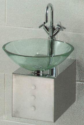 Wastafels toiletten kranen accessoires - Lavabos de cristal de colores ...
